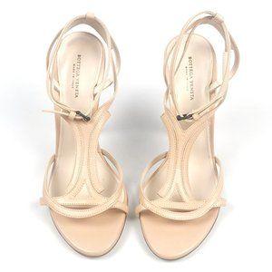 Bottega Veneta Nude Strappy Sandal Pumps Slim Heel